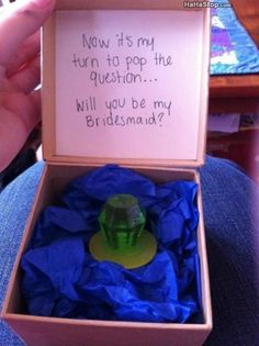 Instead of a ring pop, maybe a bottle of nail polish with a cute ring around it for them to wear on the big day