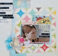 Don't Take Life Too Seriously 12×12 Layout by Ginger John    little black dress kit club scrapbook 12x12 layout