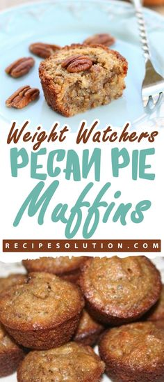 Watchers Pecan Pie Muffins > > If you are in a hurry and you need to make. - Weight watchers recipes desserts -Weight Watchers Pecan Pie Muffins > > If you are in a hurry and you need to make. Weight Watchers Muffins, Weight Watchers Breakfast, Weight Watchers Desserts, Ww Desserts, Healthy Desserts, Dessert Recipes, Healthy Recipes, Healthy Muffins, Breakfast Recipes