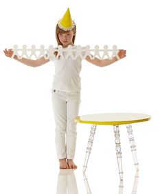 Yellow & Clear Catherine Table | Daily deals for moms, babies and kids