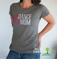 25% off Size Small DANCE MOM, glittery semi-fitted sparkle tee shirt