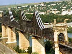 Cernavoda bridge - Danube river, Romania -the bridge was designed in the 19th century by Anghel Saligni