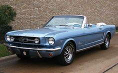 Y - Silver Blue 1965 Ford Mustang Convertible