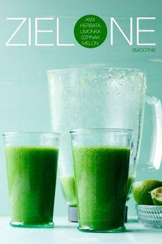 Zielone smoothie z zielonej herbaty