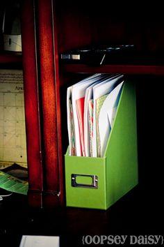 DIY File organization {Using a cardboard box}