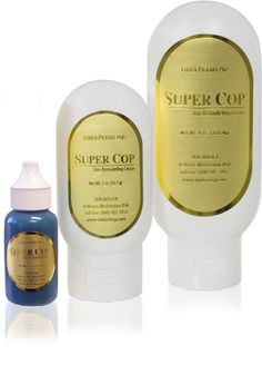 Super Cop (14 of 28)      Super Cop is an ideal product for spot treating scars, blemishes, pigmented spots, stretch marks and deep wrinkles, dramatically improving their appearance. Powerful copper-peptides, hydroxy acids and skin-identical amino acids work synergistically to deliver smooth, glowing, blemish-free complexion while reducing the appearance of wrinkles and hyperpigmentation.