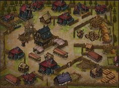 Inkarnate is a free web-based cartography tool that helps you to quickly bring your fantasy worlds to life. Show us your maps, and share your. Fantasy City, Fantasy House, Fantasy Map, Fantasy World, Village Map, Rpg Map, Game Resources, Adventure Map, Fantasy Concept Art