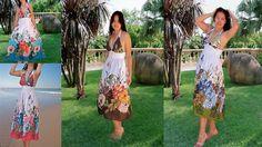 Smoking lady dress/Sun dress/Women  dress floral by Danideng, $45.00