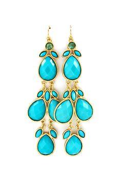 Sadie Earrings in Turquoise