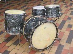 #Slingerland Radio King #1955 Black Diamond Pearl Drum
