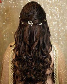"""Orange The Salon """"Portfolio"""" album - Bridal Hairstyle for Long Hair Bridal Weddi. Orange The Salon """"Portfolio"""" album - Bridal Hairstyle for Long Hair Bridal Wedding Hairstyle, Mehendi Hairstyle. Bridal Hair Buns, Bridal Hairdo, Hairdo Wedding, Long Hair Wedding Styles, Trendy Wedding, Hair Styles Elegant, Wedding Beach, Diy Wedding, Wedding Decor"""
