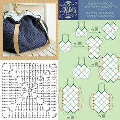 Bolso - Granny squares - Free patterns