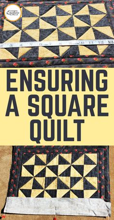 "Do you want a ""square quilt""? That is not to say that your quilt is literally a square shape (unless of course you want it to be a square shape); what this means is that your quilt will lie perfectly flat with no puckers, tucks, or unwanted pleating after it has been quilted. So how do you achieve this? Here are some helpful hints."