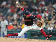 Cleveland Indians relief pitcher Adam Cimber pitching against the Pittsburgh Pirates in the inning at Progressive Field. July (Chuck Crow/The Plain Dealer). Indians Baseball, July 24, Pittsburgh Pirates, Cleveland Indians, Diamond Are A Girls Best Friend, Best Games, Crow, Ohio, Diamonds