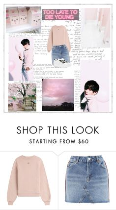 """""""Untitled #98"""" by brianna-miller-bts-army ❤ liked on Polyvore featuring THE EDITOR, Off-White, Topshop and Kenzo"""