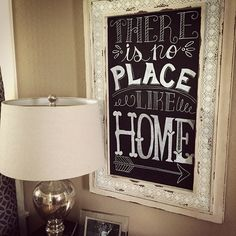 My favorite chalkboard sign I've made to date!  #widn  #chalkart #chalk #chalkboard #chalkboardsign #hobbylobby #handlettering #calligraphy #decor #decorate #decorating #decoration #instalike #instashare #crafts #crafting #craftlady #lovehome #homegoods #homegoodshappy #diyprojects #diyprojects #sign #interiorlove #thereisnoplacelikehome