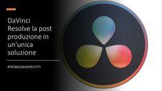 DaVinci Resolvela post produzione in un'unica soluzione Creato originariamente da da Vinci Systems nel 1985, il software è stato progettato #TecnologiaPerTutti #VivereNelFuturo #personalcomputer #windows #linux #mac Tech Logos, Linux, Timeline, Software, Mac, Chart, Windows, Tecnologia, Linux Kernel