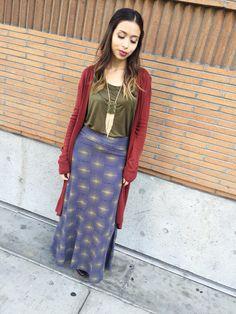 LuLaRoe Maxi and long cardigan
