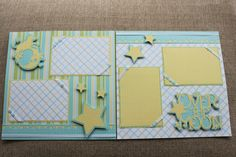Baby Shower Layouts | Another Scrapbook Layout for Yates