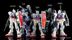1/100 RX-78-2 Gundam Comparison Images by Gundam @EFSF  Images via Gundam@EFSF