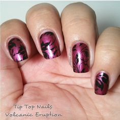 tip top volcanis eruption nail art 2