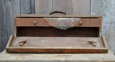 Wooden Carpenter's Tool Box with Drawer by RelicsAndRhinestones, $79.00
