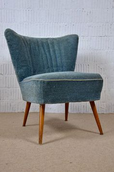 50s Rockabilly Retro GREAT COCKTAIL EASY CHAIR FAUTEUIL Mid-Century Vintage 7