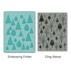 Sizzix Textured Impressions Embossing Folder w/Stamp - Birds 'n' Trees Set £14.99