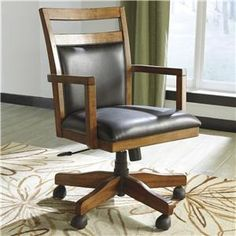 Signature Design by Ashley Lobink Home Office Desk Chair with Cutout Detail - Colder's Furniture and Appliance - Office Task Chair