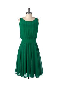 love the color, and the flair from the waist is very flattering. Pair it with some statement gold and pear jewelry, nude heals, statement lip, and curls in the hair... excellence.