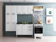 Cozinha Compacta Itatiaia Luce - Itatiaia + Balcão com Tampo 3 Portas 2 Gavetas com as melhores condições você encontra no Magazine Ubiratancosta. Confira!