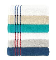 Jogo de toalha Caraveli. Barra Lisa, gramatura 430g/m².