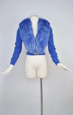 Vintage 50s Blue FOX FUR DALTON Cashmere Cardigan Sweater / | Etsy Cashmere Cardigan, Sweater Cardigan, Full Circle Skirts, Winter Sweaters, Vintage Sweaters, Fox Fur, Art Deco Fashion, Day Dresses, Fur Coat