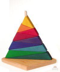 beautiful wooden stacking pyramid