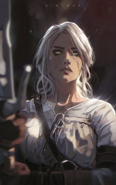 Ciri Witcher, Witcher Art, Fantasy Character Design, Character Design Inspiration, Character Art, The Witcher Game, The Witcher Books, Dnd Characters, Fantasy Characters