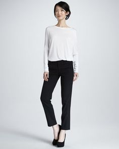 Cropped Straight-Leg Trousers by Vince at Bergdorf Goodman.