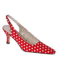 Look what I found on #zulily! Red & White Polka Dot  Slingback #zulilyfinds