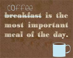 Coffee - the most important meal of the day. #MrCoffee