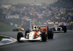 Ayrton Senna (McLaren-Ford) Grand Prix de Grande Bretagne - Silverstone 1993 - Gil Saunder.