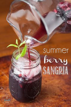 Sweet Berry Sangria is a refreshing cocktail made with summer berries soaked in red wine with berry infused vodka and a sweet bubbly ginger ale.