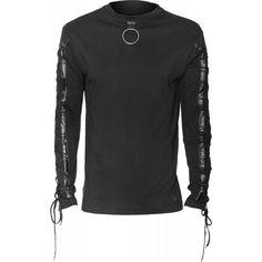 Raven SDL men's top slave ring and drawstring sleeves