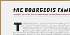 Bourgeois - Font by Virus