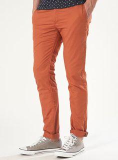 Orange Lightweight Skinny Chinos