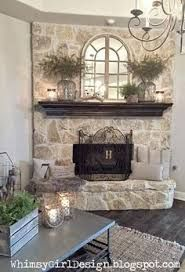Think I need to paint my fireplace rock like this. | Homey ...