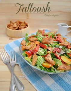 fattoush salad recipe @ chef in disguise. This is a wonderful salad, we make this on occasion but omit the carrot and dressing but mix the sumac in with the salad.It is flavorful on its own without adding any dressing.