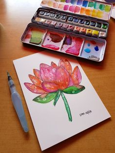 Watercolor Flowers, Art, Flower Watercolor, Kunst, Art Education, Artworks