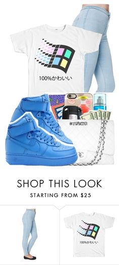 """Untitled #374"" by perfxt-royalty ❤ liked on Polyvore featuring American Apparel"