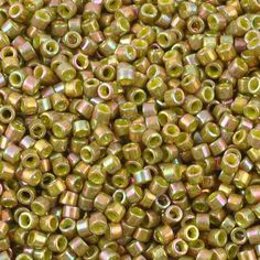 Seed Beads-11/0 Delica-133 Opaque Olive Gold Luster-Miyuki-7 Grams