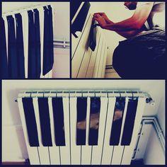 Décorer un radiateur en forme de piano