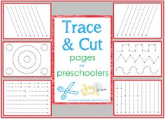 By @Amy Maze Trace and Cut Pages for Preschoolers. So cute!  #homeschool #ihsnet #finemotorskills